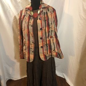 Tantrum jacket with shirt and skirt
